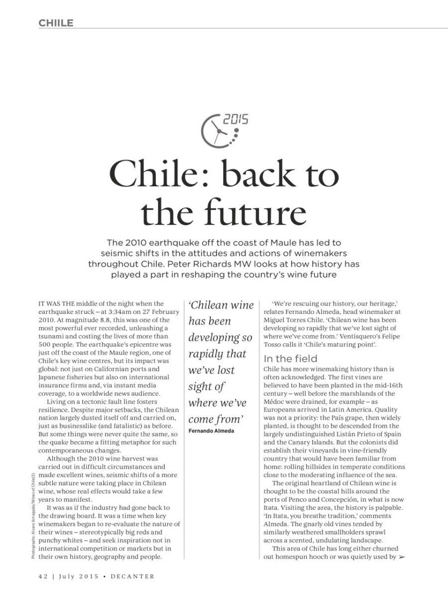 Chile: Back to the Future – VIGNO